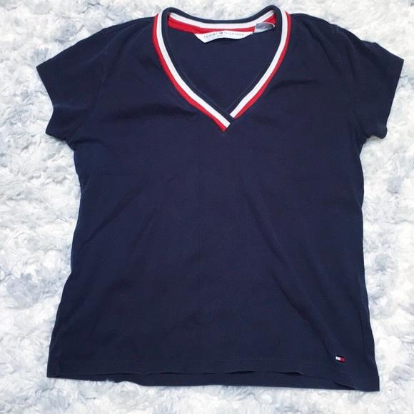 88fe0146 Classic v-neck Tommy Hilfiger shirt. M_5bf974a69fe486fd2335d351
